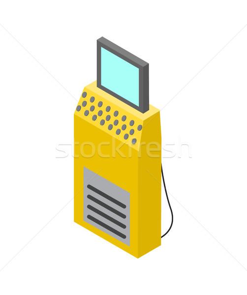 Production Control Computer Vector Illustration Stock photo © robuart
