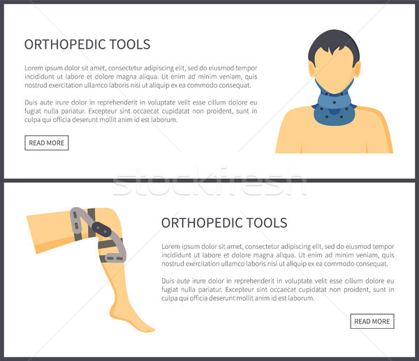 Orthopedische tools web titel informatie Stockfoto © robuart