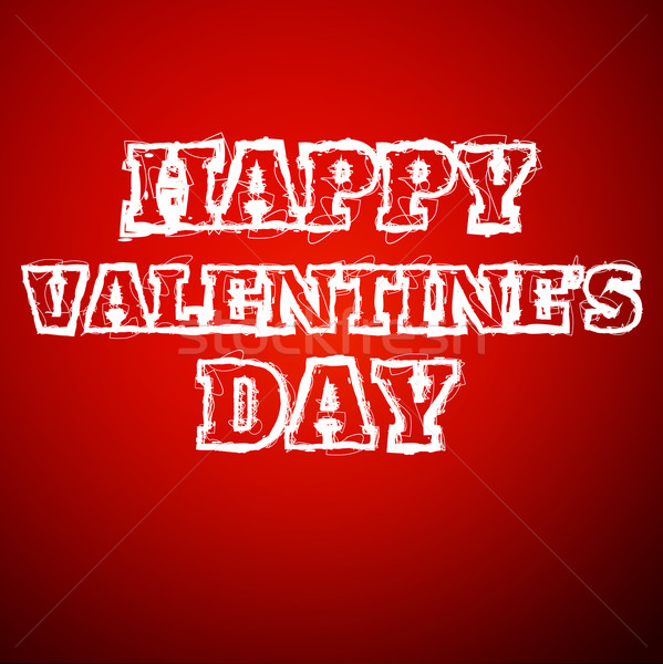 Valentines day draw text Stock photo © robuart