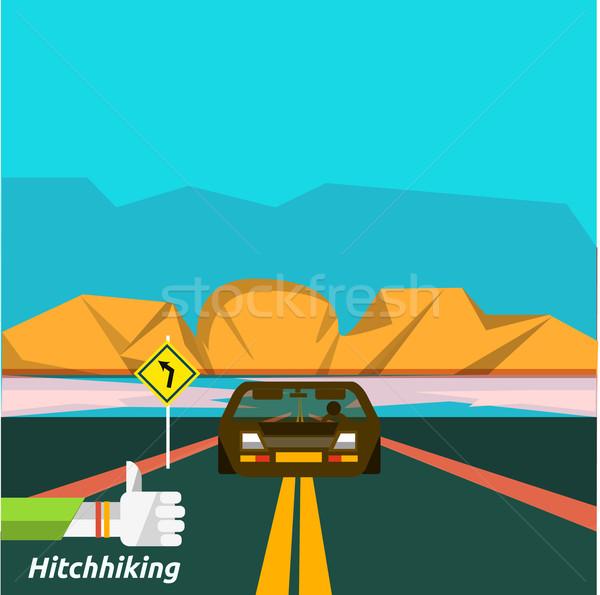 Hitchhiking tourism Stock photo © robuart