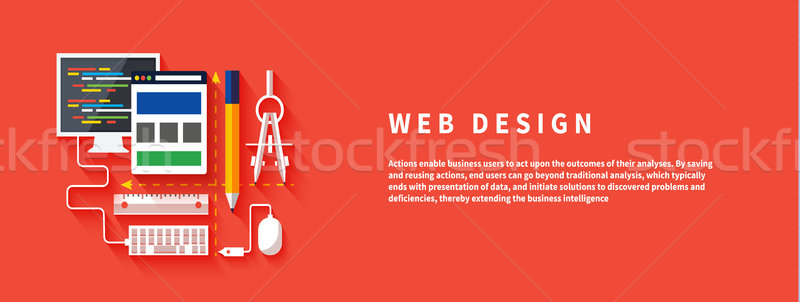 Stock photo: Web design. Program for design and architecture.