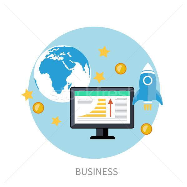 Start omhoog raket business idee sjabloon Stockfoto © robuart
