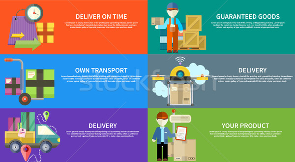 Concept of services in delivery goods Stock photo © robuart