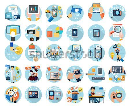 Branding, graphic and printing design icon set Stock photo © robuart