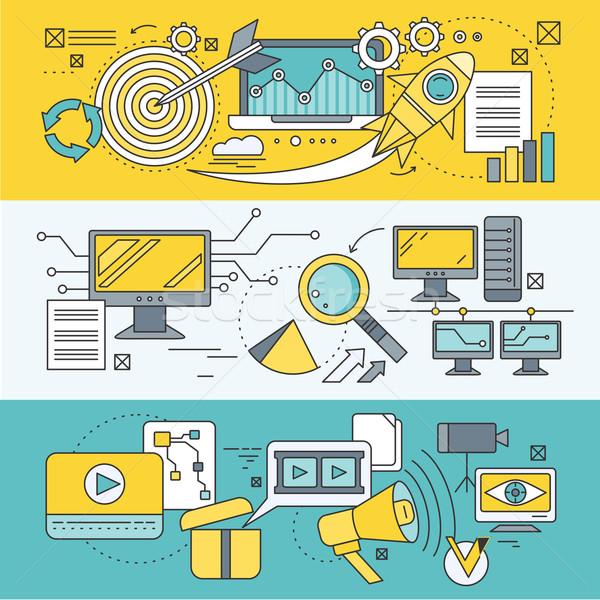 Analytisch analyse ontwikkeling startup diagram Stockfoto © robuart