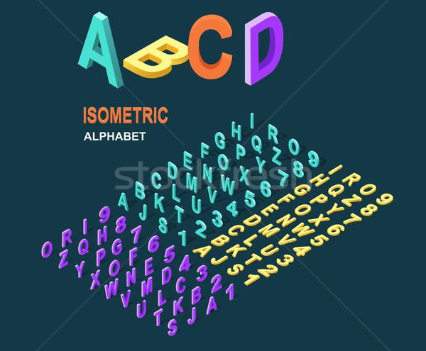 Stock photo: Isometric Design Style Alphabet