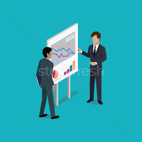Business Report Isometric Stock photo © robuart