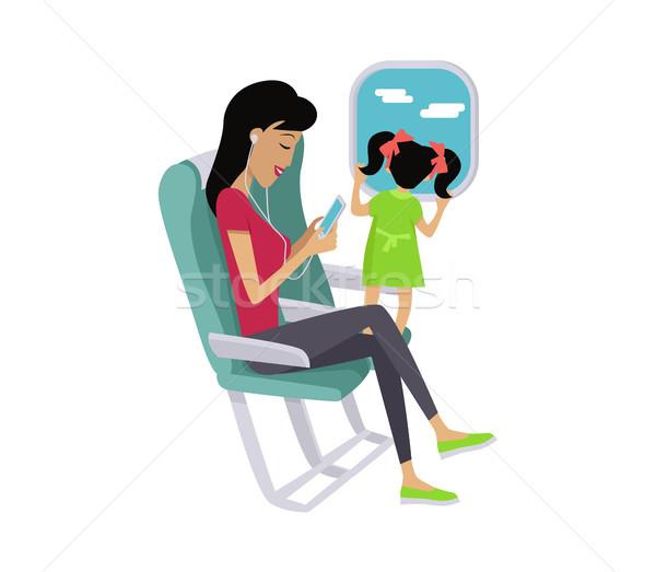 Flight Travel Concept Vector in Flat Design Stock photo © robuart