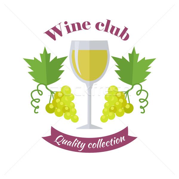 Vino club calidad colección etiquetas Foto stock © robuart