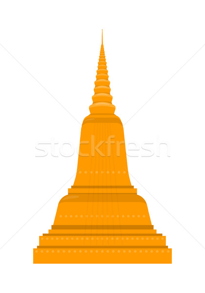 Tempel Thailand traditioneel thai architectuur geïsoleerd Stockfoto © robuart