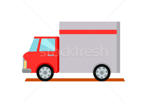 Lorry Truck Worldwide Warehouse Delivering. Stock photo © robuart
