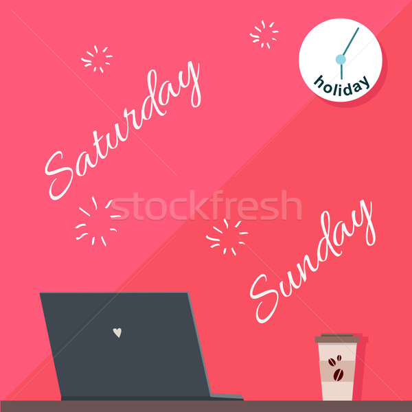 Saturday and Sunday Holiday. Official Day Off. Stock photo © robuart