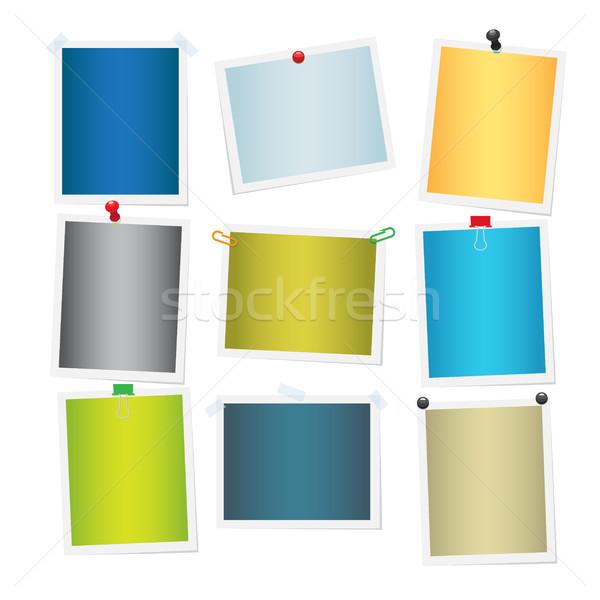 Vide coloré attaché Photos ensemble blanche Photo stock © robuart