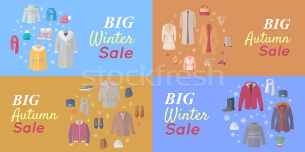 Zdjęcia stock: Sezonowy · sprzedaży · wektora · koncepcje · projektu · stylu