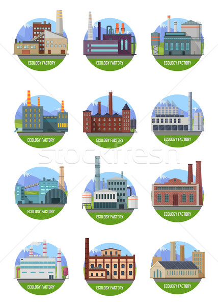 Set of Factory Building Banners Stock photo © robuart