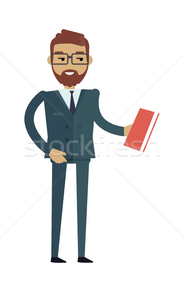 European Man in Expensive Suit and Book. Stock photo © robuart