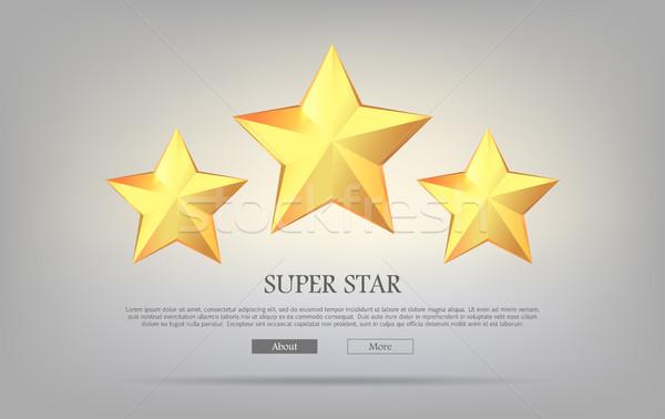 Süper Yıldız üç altın gümüş Stok fotoğraf © robuart