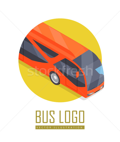 Bus vector icon isometrische projectie stad icon Stockfoto © robuart