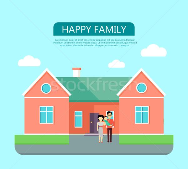 Happy Family Concept Stock photo © robuart
