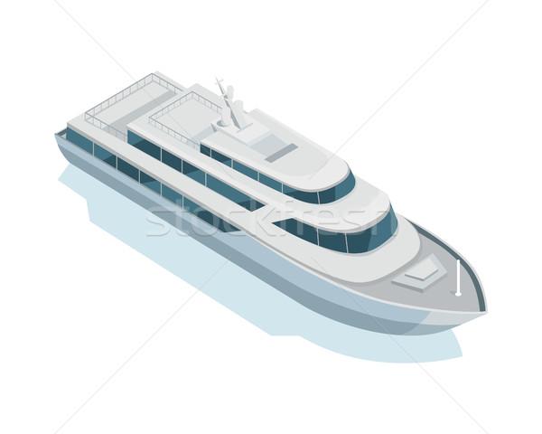 ヨット ベクトルのアイコン アイソメトリック 投影 アイコン 個人 ストックフォト © robuart
