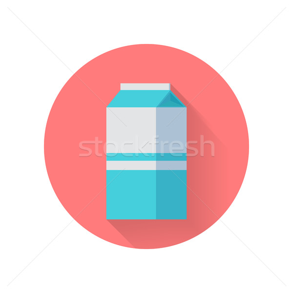 Milk Blue Carton Package Isolated Stock photo © robuart
