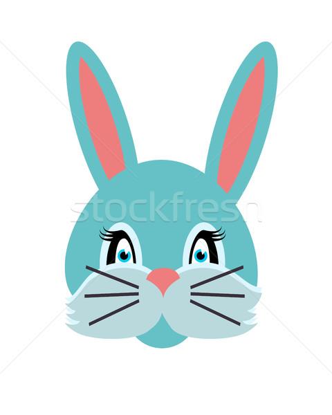 Rabbit Animal Carnival. Grey Small Bunny Hare. Stock photo © robuart