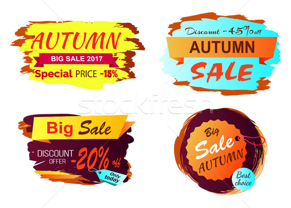 Big Autumn Sale Clearance Vector Illustration Stock photo © robuart