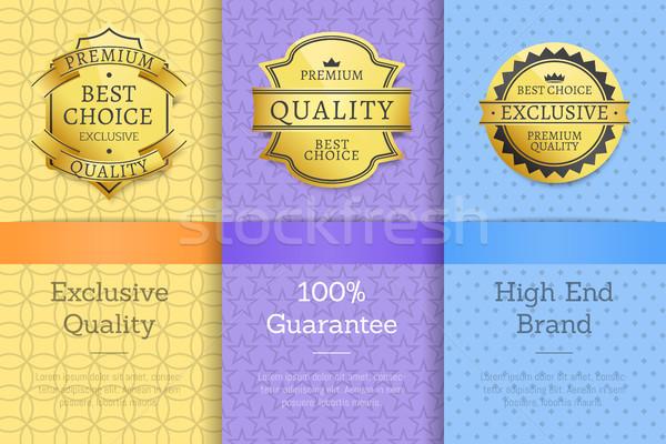 Exclusif qualité 100 garantir élevé Photo stock © robuart