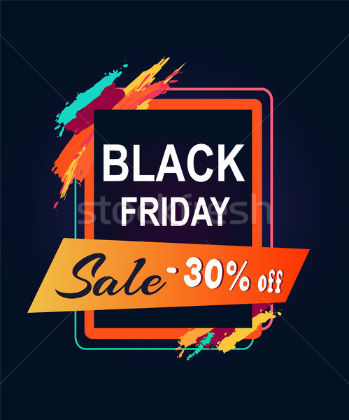Black friday vente 30 texte rectangulaire Photo stock © robuart