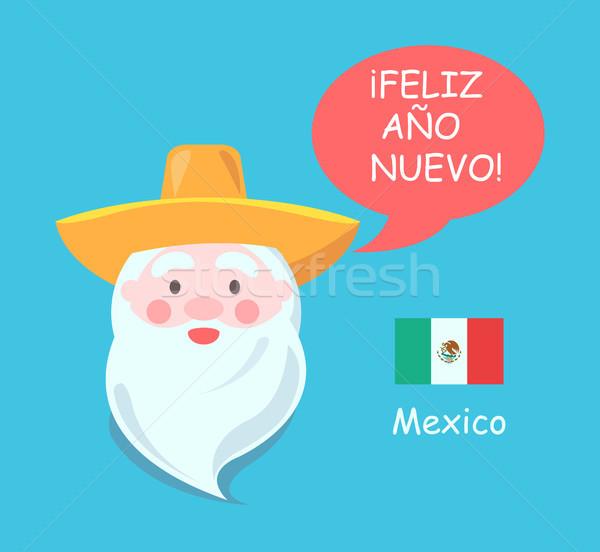 メキシコ サンタクロース ポスター 歳の男性 シンボリック ソンブレロ ストックフォト © robuart