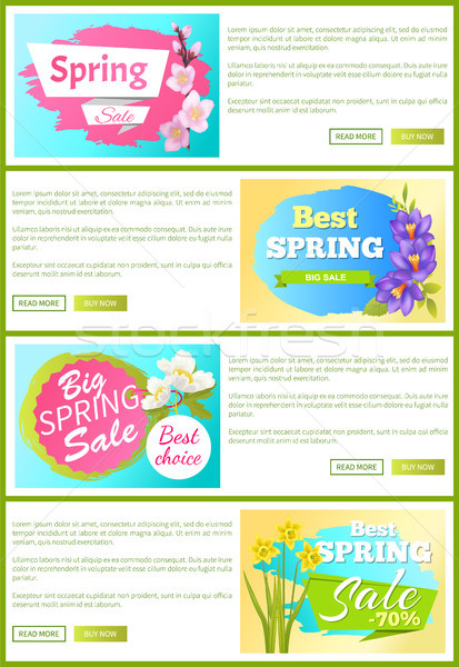 Best Spring Sale Web Sets Vector Illustration Stock photo © robuart