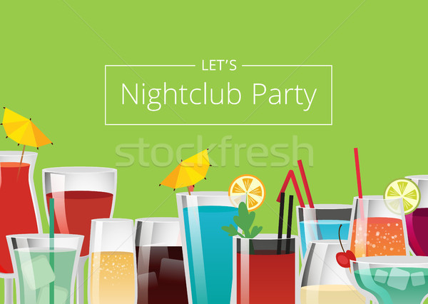 Nightclub Party Color Card Vector Illustration Stock photo © robuart