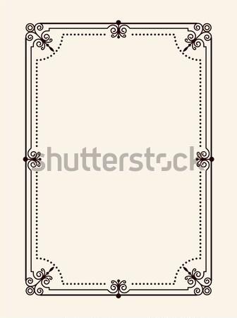 Frame hoeken rechthoekig vorm vintage Stockfoto © robuart