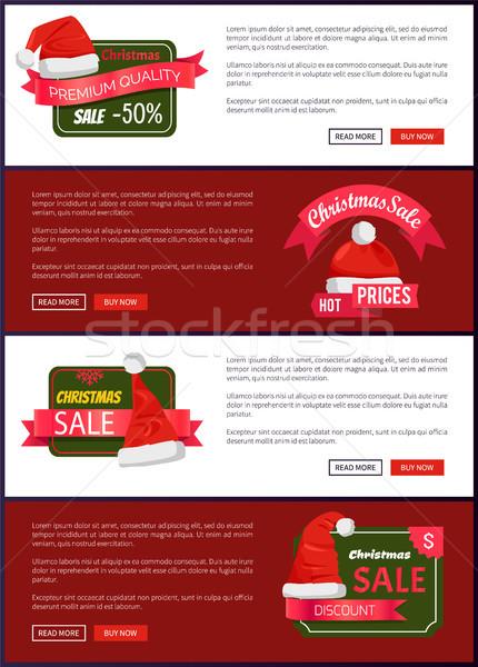 Premium Quality Christmas Sale Web Banners Buttons Stock photo © robuart