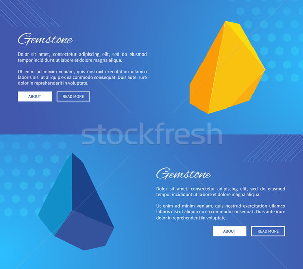Uncut Gemstones on Internet Posters Templates Stock photo © robuart