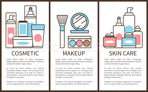 Cosmetic and Makeup Skin Care Vector Illustration Stock photo © robuart
