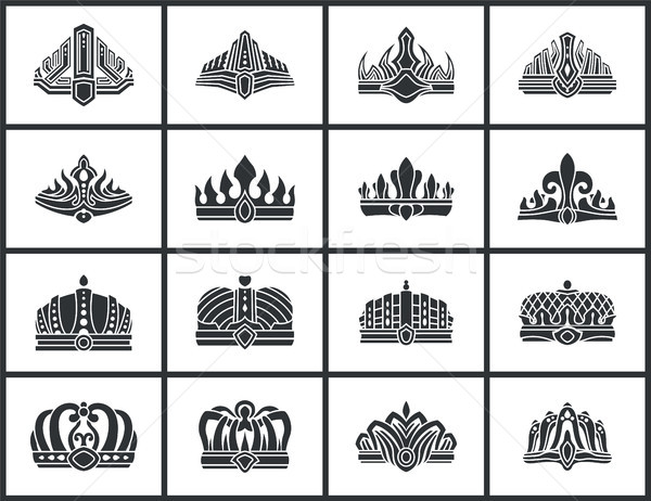 Crowns Collection of Shapes Vector Illustration Stock photo © robuart