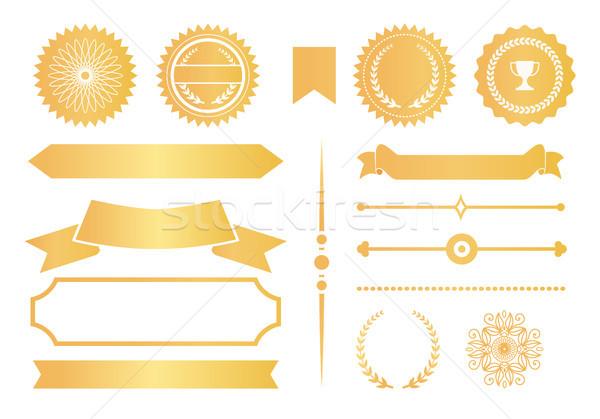 Photo stock: Certificat · design · étiquettes