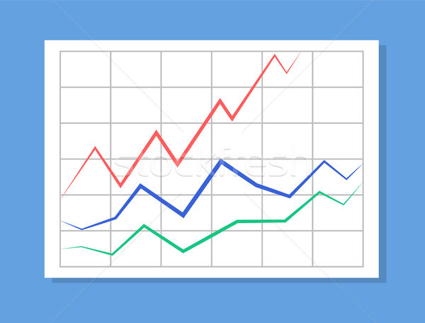 Analytics with Colorful Lines Vector Illustration Stock photo © robuart