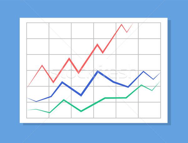 Foto stock: Analítica · colorido · linhas · informação · gráfico · dados