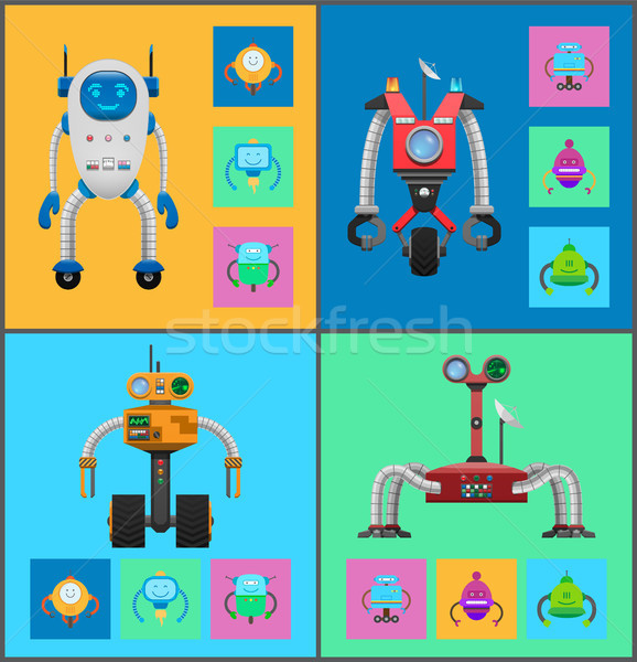 Robot Mechanisms Collection Vector Illustration Stock photo © robuart