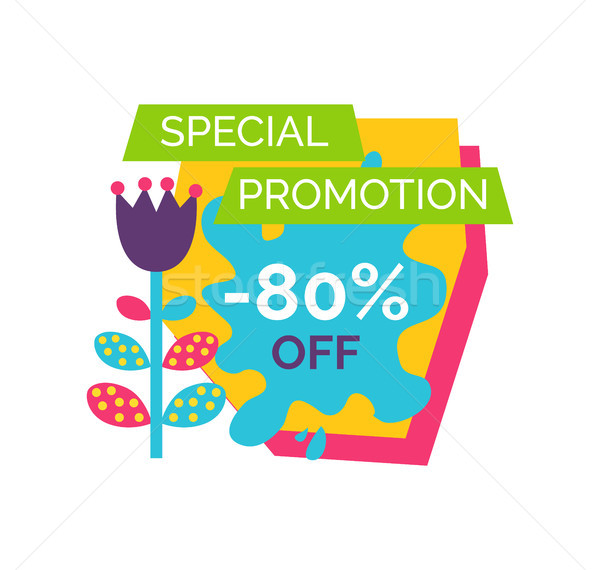 Special Promotion 80 Off Premium Total Sale Label Stock photo © robuart