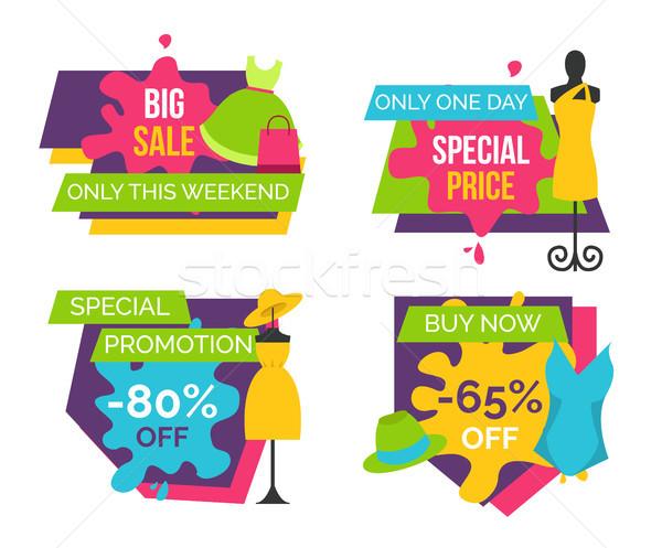 Duży sprzedaży weekend specjalny cena Zdjęcia stock © robuart