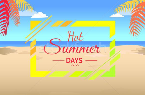 Hot Summer Days on Tropical Beach Illustration. Stock photo © robuart