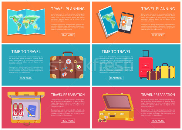 Travel Planning Web Pages Vector Illustration Stock photo © robuart