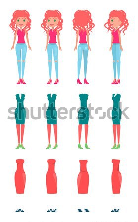 Animated Character Constructor, Vector Icons Set Stock photo © robuart