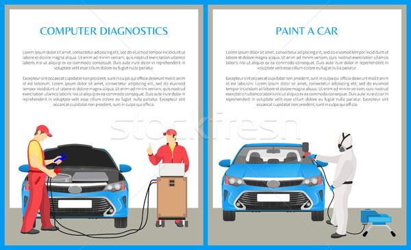 Paint Car and Diagnostics Vector Illustration Stock photo © robuart