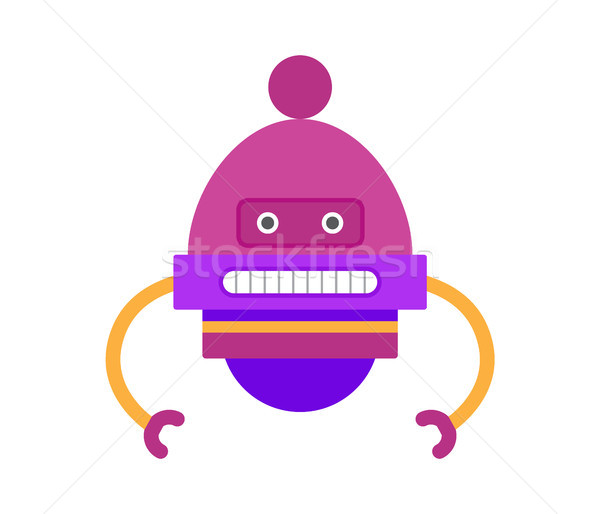 Robot of Purple Color Hands Vector Illustration Stock photo © robuart