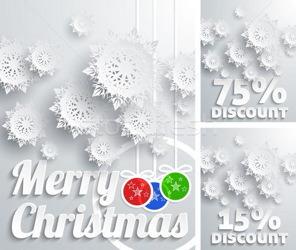 Merry Christmas background discount set Stock photo © robuart