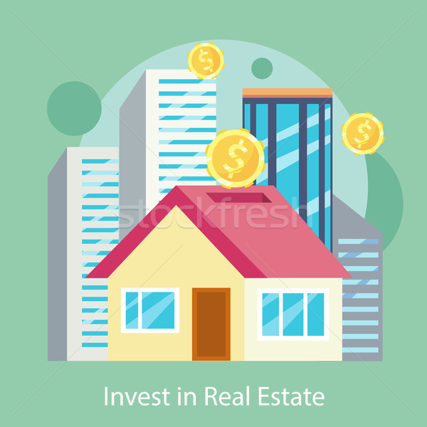 Invest in Estate Built Offices, Apartments, Houses Stock photo © robuart